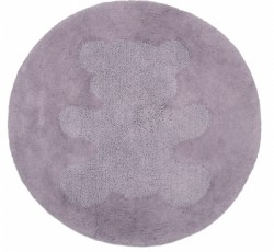 Tapis lavable rond Sweet Teddy parme