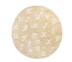 Tapis Lettres beige