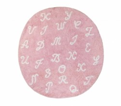 Tapis Lettres rose