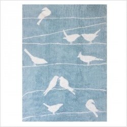 Tapis oiseaux Bleu