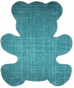Tapis ours bleu en coton