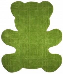 Tapis ours vert en coton