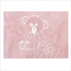 Tapis ourson Rose