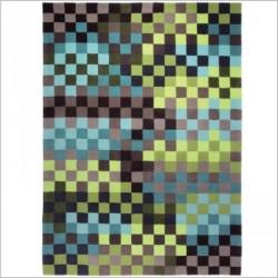 Tapis pixels Bleu et vert
