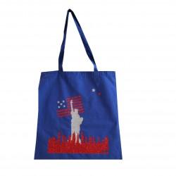 Tote Bag Statue de la liberté bleu