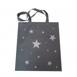 Tote bag étoiles gris