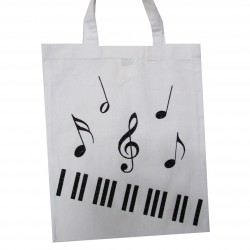 Tote bag Piano blanc
