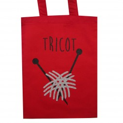 Tote Bag mini tricot rouge
