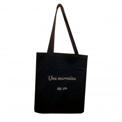 Tote bag Une marraine en or