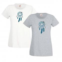 Tee shirt catch dreamer bleu turquoise