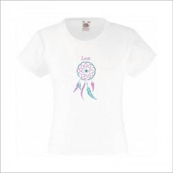 Tee-shirt enfant fille attrape rêves étoile personnalisable