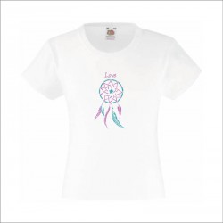 tee shirt attrape rêve mauve turquoise