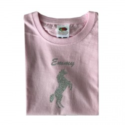 Tee shirt licorne pailletée argent Emmy