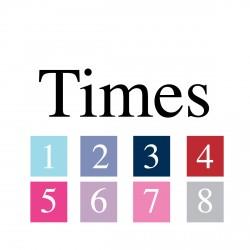 Sticker prénom police Times
