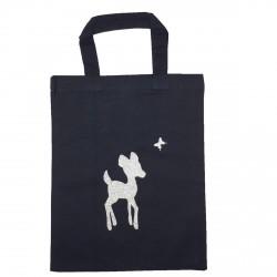 Tote Bag mini Bambi noir personnalisable