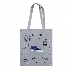 Tote bag gris Best Friends