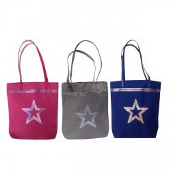 Tote bag étoile pailletée en toile personnalisable