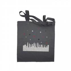 Tote bag New York buildings gris