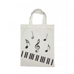 Tote bag mini piano blanc