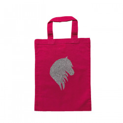 Tote bag mini tête de cheval rose