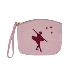 Pochette bombée rose pâle danseuse étoile