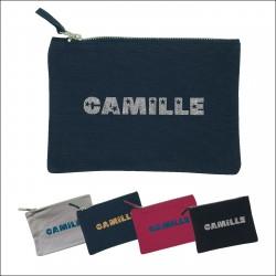 Trousse prénom pailleté Camille