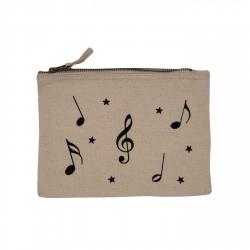 Pochette beige notes de musique