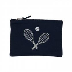 Trousse raquette de tennis pailletée personnalisable