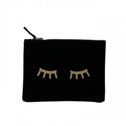 Pochette noire yeux dorés