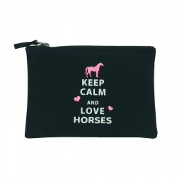 Pochette noire Keep calm and love hoses