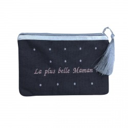 Pochette maman taupe personnalisable