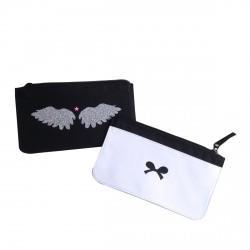Trousse d'école ailes d'ange pailletées personnalisable