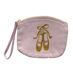Pochette rose pâle chaussons