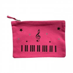 Trousse rose piano personnalisable