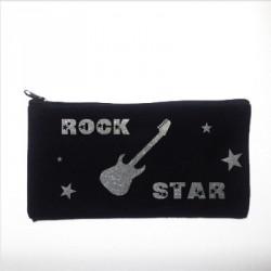 Trousse personnalisable noire rock star