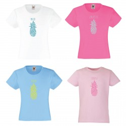 Tee-shirt enfant fille ananas personnalisable