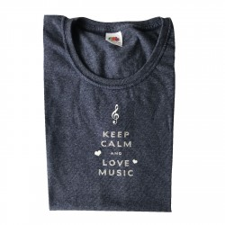 Tee shirt keep calm and love music
