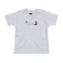 Tee-shirt gris garçon marin