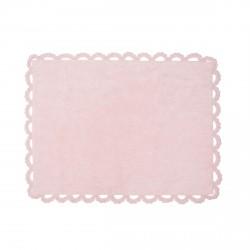 Tapis enfant coton Versailles rose