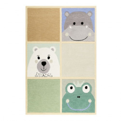 Tapis bébé animaux What's up!? couleurs pastels