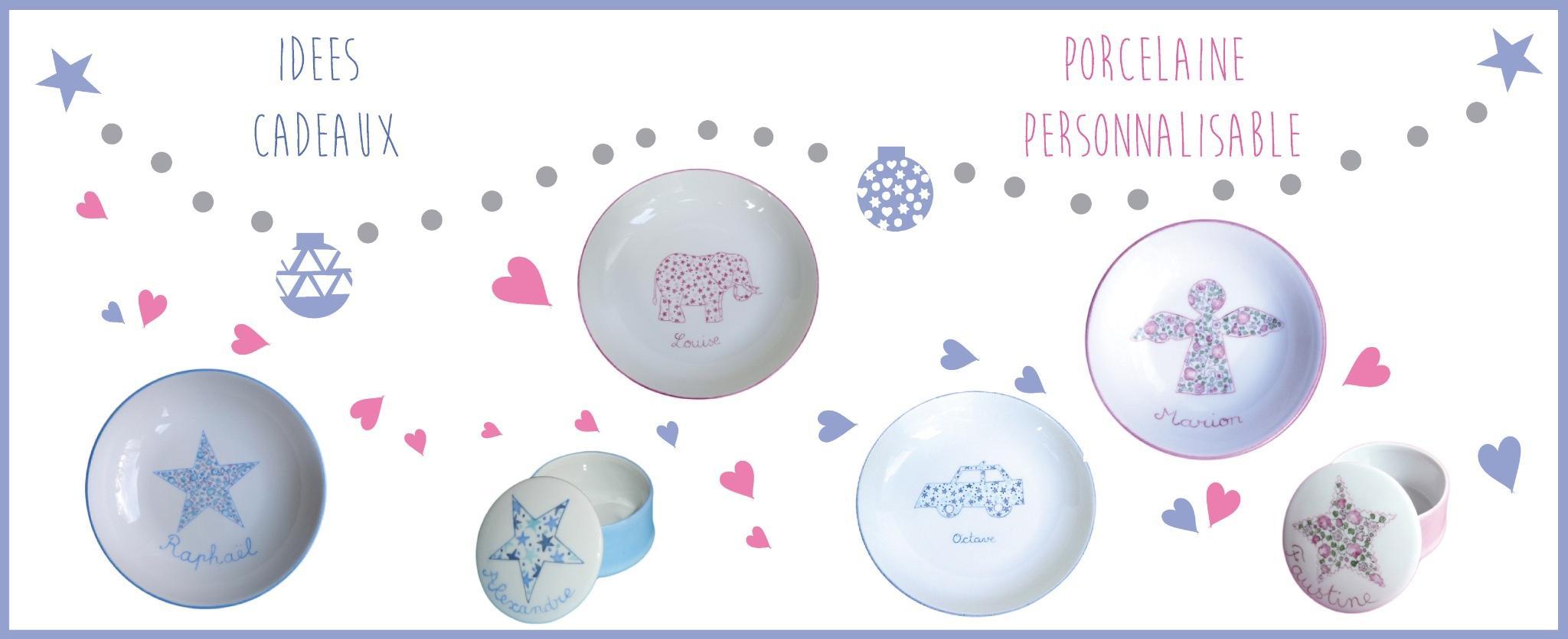 vaisselle personnalisable pour enfants