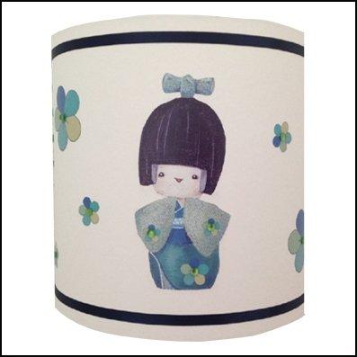 Abat-jour cylindriques kokeshi et poupées russes