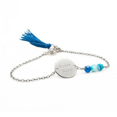 Bracelets chaines gravées femme
