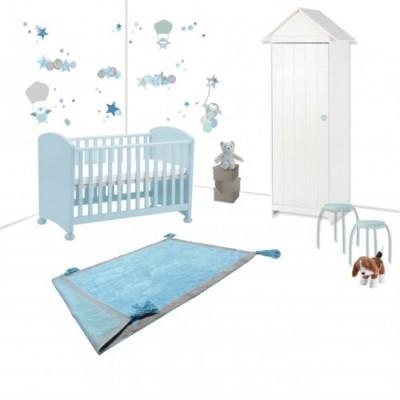 Douce nuit étoilée dans la chambre de bébé