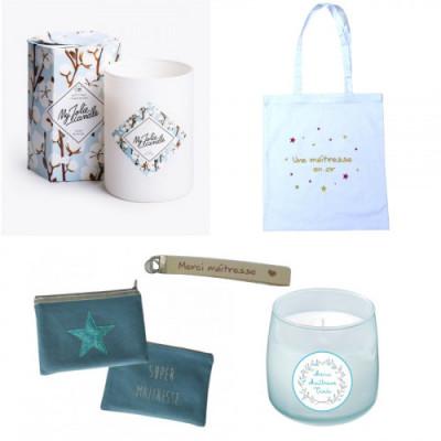 Merci maîtresse :  sélection de jolis cadeaux personnalisés