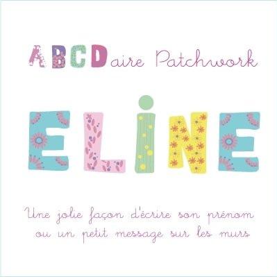Stickers bébé patchwork : lettres colorées et animaux ludiques