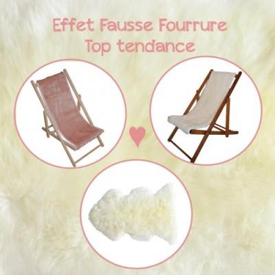 Transat et tapis : effet Fausse Fourrure top tendance