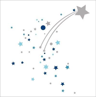Déco étoiles garçon grise