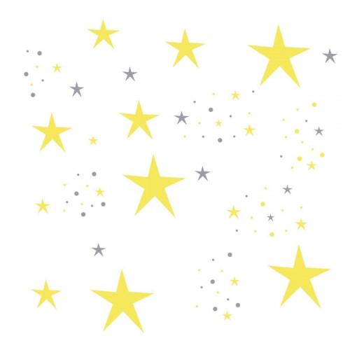Déco étoiles jaune