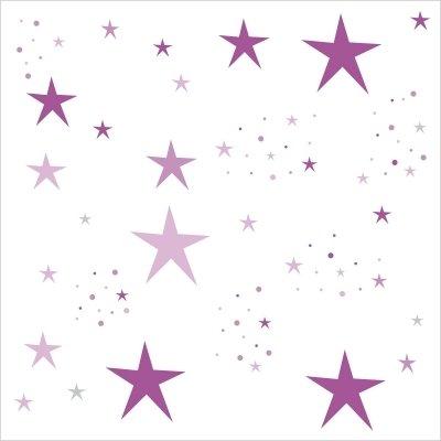 Déco étoiles violet